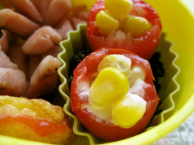 お弁当に♪プチトマトとコーン