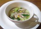 チンゲン菜とかにかまのスープ