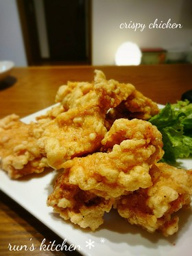 鶏むね肉のクリスピー唐揚げ✽