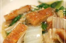 白菜とさつま揚げの炒め煮