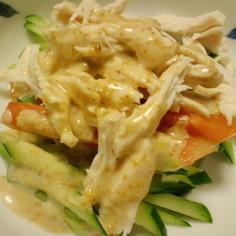 ゴマドレで簡単☆バンバンジー風サラダ