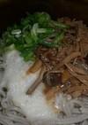 流水麺で簡単!とろろ&なめ茸蕎麦