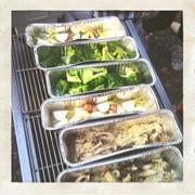 BBQ! 野菜を食べる!の写真