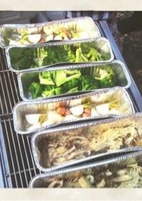 BBQ! 野菜を食べる!