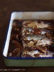 鯵(鰯)の生姜酢甘露煮。の写真
