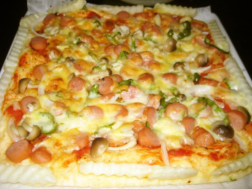 ホットケーキミックスと豆腐で簡単ピザ