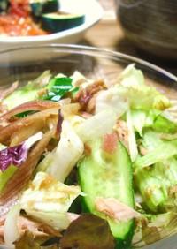 サラダクラブでミョウガ香るサラダ
