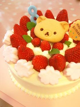 共立て♡21cm型スポンジケーキ
