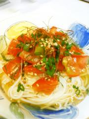 ゴマが美味しいトマト素麺の写真