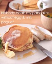 卵・牛乳を使わないイースト・パンケーキ。の写真