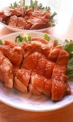 鶏もも肉の醤油煮
