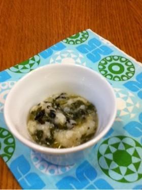 離乳食  小松菜とひじきのおかゆ
