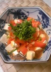 豆腐のトマトポン酢チリソース冷奴