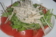 水菜、トマト、ごぼうサラダ