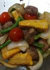 牛肉と野菜のめんつゆ漬け
