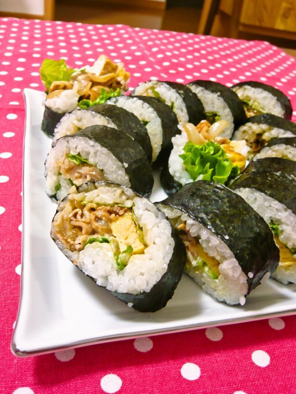 ✿簡単!韓国風豚バラ肉の巻き寿司✿