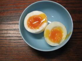 電子レンジで半熟ゆで卵!