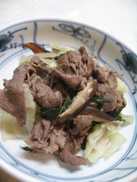 ポン酢で蒸し焼き肉野菜