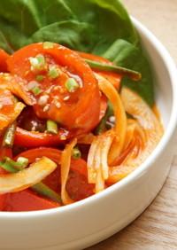 サラダ感覚で食べる トマトキムチ