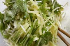 簡単★やみつき!水菜とジャガイモのナムル