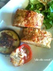お豆腐と野菜たっぷりミートローフ♪の写真