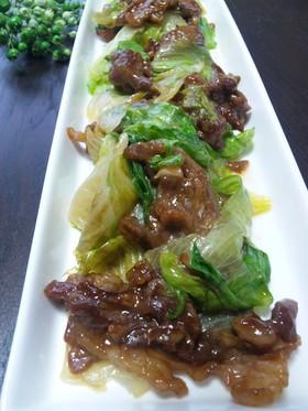 牛肉とレタスの炒め・中華風に♪