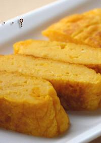豆腐とかぼちゃの卵焼き風。