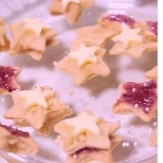 七夕に簡単おやつ食パンのお星さまサンド☆