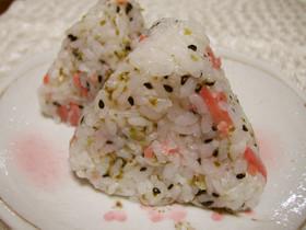 紅生姜と青海苔のおにぎり