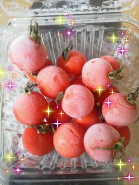 夏のお弁当に*ひんやり冷たい冷凍トマト