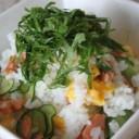 レンジで簡単!塩鮭といり卵のちらし寿司☆