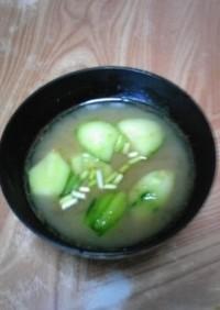 ぱりぽりきゅうりの味噌汁