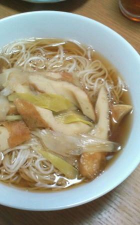 体の芯からポカポカ♪生姜入り煮麺