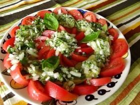 トマトとナスのイタリアンマリネサラダ