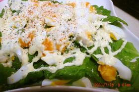 ロメインレタスとゆで卵のシーザーサラダ