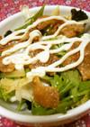 鶏皮・水菜・レタスのシンプル◆サラダ