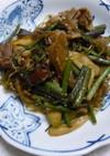 豚肉と山菜水煮の炒め物