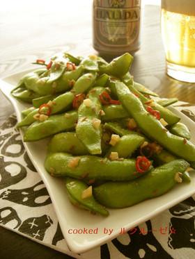 枝豆のスパイス炒め