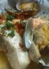 鮭とタラのなんちゃってアクアパッツァ風