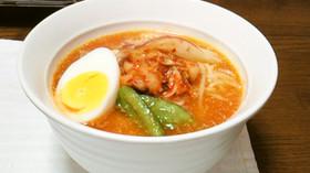 キムチ冷麺風素麺♪