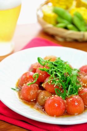 プチトマトの生姜マリネ
