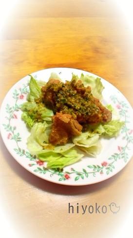鶏竜田揚げ★きゅうりソース