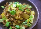 ネパール★大根と挽き肉のクミン炒め