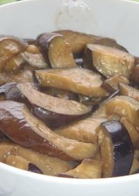 さっぱり戴くなすマヨの黒酢・昆布つゆ炒め