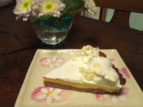 ホワイトチョコのベイクドチーズタルト