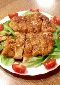 パリパリしっとり♡鶏胸肉のステーキ