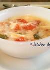 簡単ふわとろ♡たまごとトマトのスープ