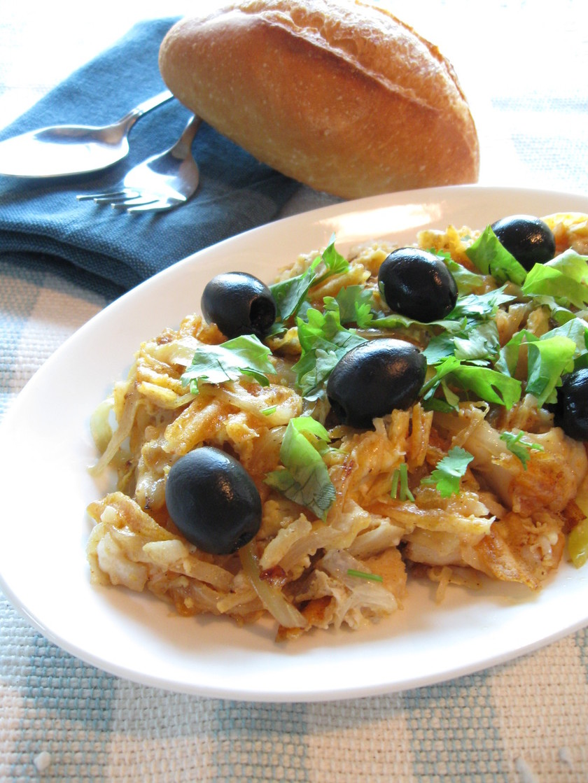 【ポルトガル料理】鱈とポテトの卵とじ