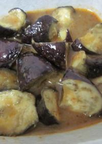 ルクエ*茄子のこってり味噌炒め。