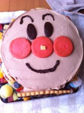 簡単!アンパンマン二段ケーキ